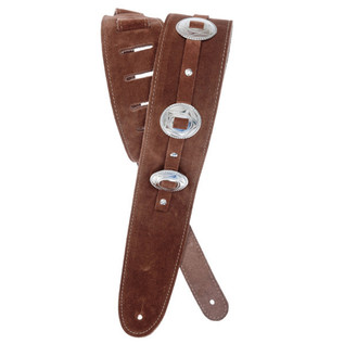 Planet Waves Conchos Guitar Strap, Brown