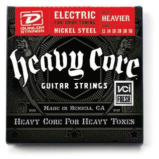 Dunlop Heavy Core Electric Guitar Strings, Heavier 11-50