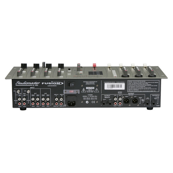 Studiomaster Fusion DSP Effects Mixer Back