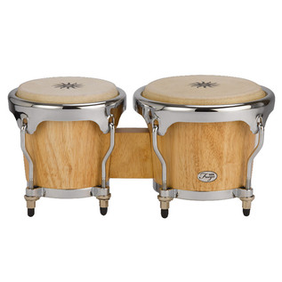 Natal Fuego Natural Wood Bongos, Chrome Hardware, Matt Natural