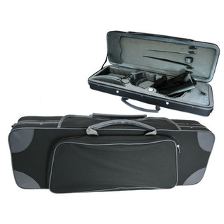 GSJ Styro Oblong Violin Case 4/4 Black/Grey
