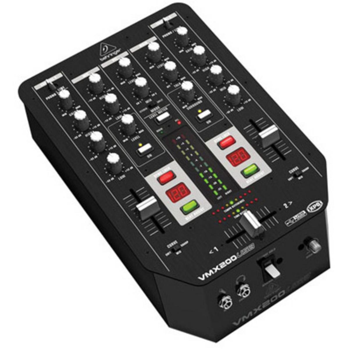Puis pro behringer vmx200usb console dj 2 canaux - Table de mixage professionnelle studio ...