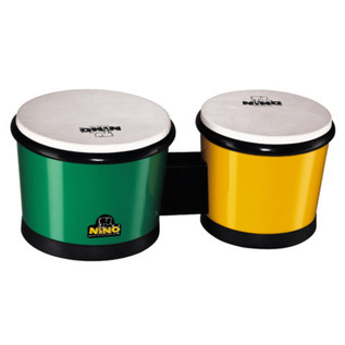 Meinl NINO19G/Y 6 1/2 inch and 7 1/2 inch ABS Bongo, Green/Yellow