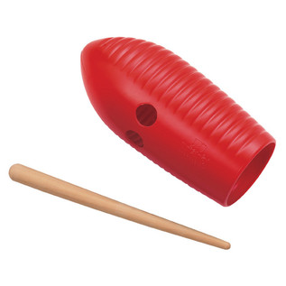 Meinl NINO581R Mini Guiro, Red