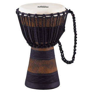 Meinl NINO-ADJ2-S African Rope Tuned Wood Djembe, Earth Rhythm