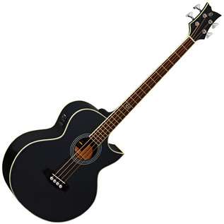 Ortega D1-4-BK Deep Series Acoustic Bass, Black High Gloss