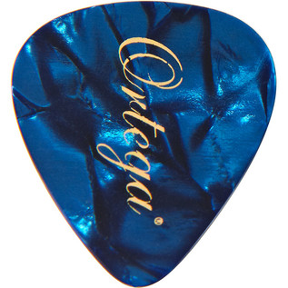 Ortega OGP-BP-H10 Celluloid Picks, Heavy, Blue Pearl, 10pcs