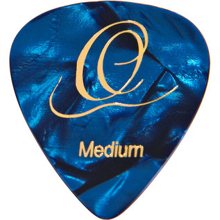 Ortega OGP-BP-M10 Celluloid Picks, Medium, Blue Pearl, 10pcs