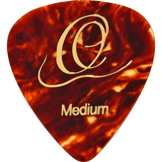 Ortega OGP-TO-M10 Celluloid Picks, Medium, Tortoise, 10pcs
