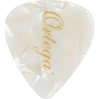 Ortega OGP-WP-T10 Celluloid Picks, Thin, White Pearl, 10pcs