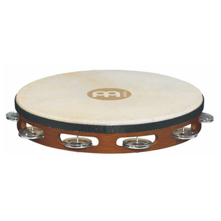 Meinl TAH1A-AB Headed Wood Tambourines, Aluminium Jingles