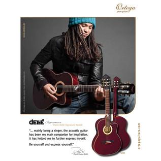 Ortega FDSM Frank Dellé Signature Electro Classical Guitar, Spruce Artist
