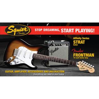 Fender Squier Stratocaster Pack with 10w Amp, Sunburst