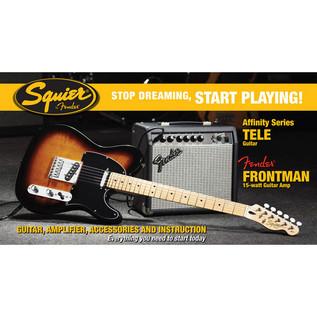 Fender Telecaster Stratocaster Pack with 15w Amp, Sunburst