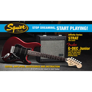 Fender Stratocaster HSS, Candy Apple Red with G-Dec Junior Pack