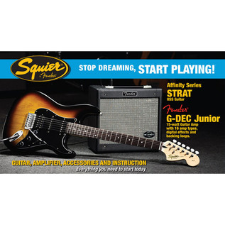 Fender Stratocaster HSS, Sunburst with G-Dec Junior Pack