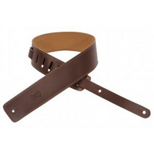 Levys DM1 Leather Strap, Brown - brown