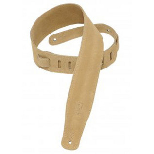 Levys MS26 Suede Leather Strap, Sand