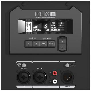 Mackie DLM8 Active PA Speaker (Rear Panel)