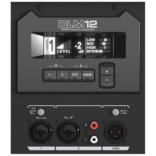 Mackie DLM12 Active PA Speaker (Rear Panel)