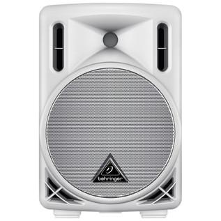 Behringer B208D-WH Eurolive Active PA Speaker, White (Front)
