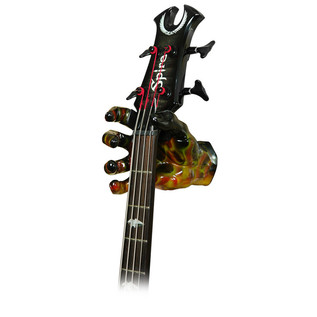 Grip Studios Air Brushed Custom Guitar Hanger, Scoppio, Right Hand with Guitar