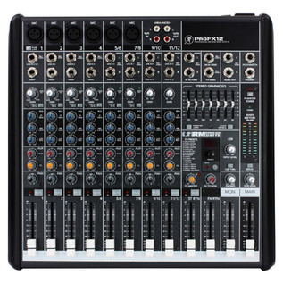 Mackie ProFX12 Channel Mixer with FX with Free Padded Mixer Bag