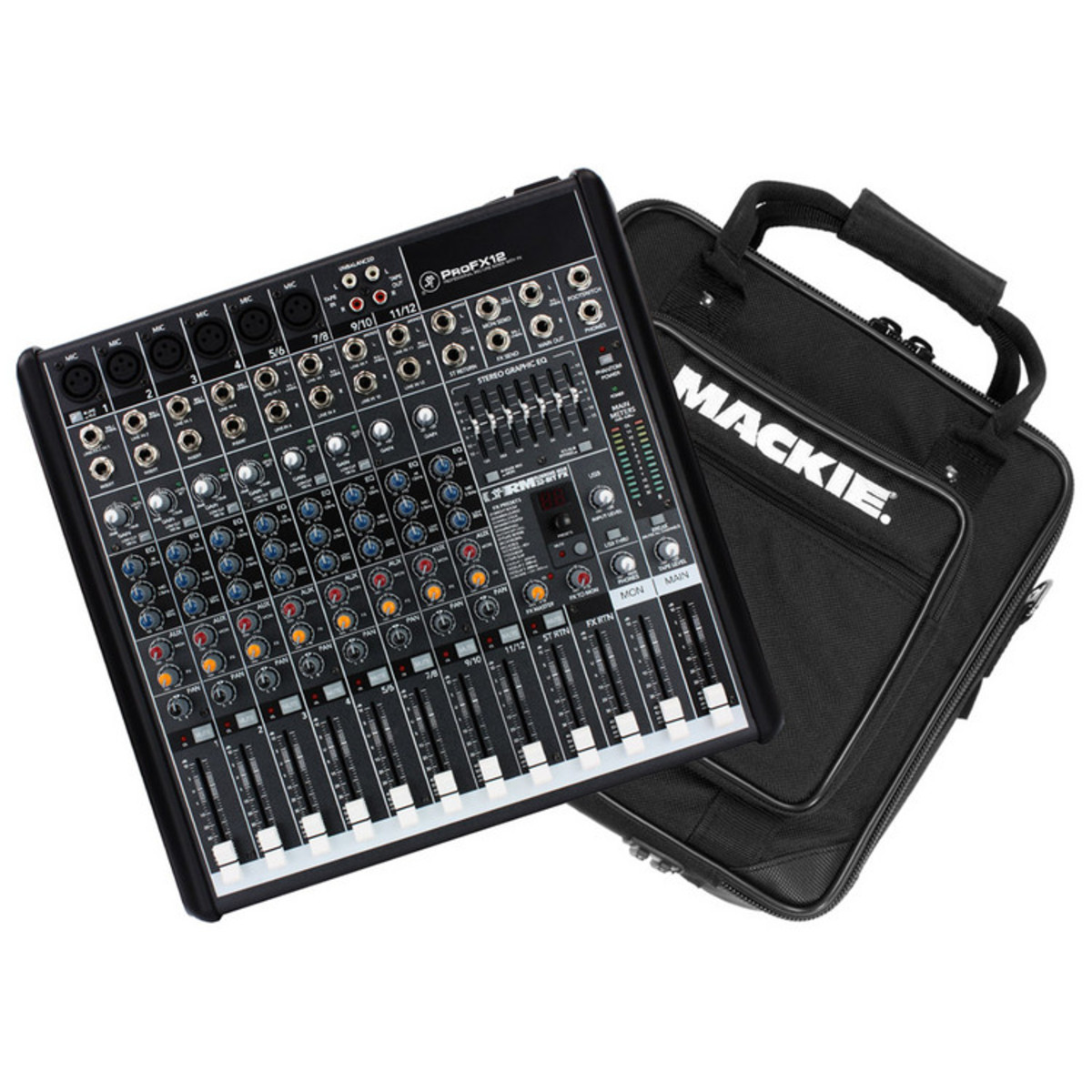 Mackie Profx12 Channel Mixer With Fx With Mackie Padded
