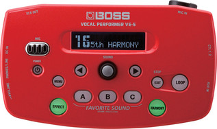 ve-5-rd_top_gal Boss VE-5 Vocal Performer Vocal Processor, Red
