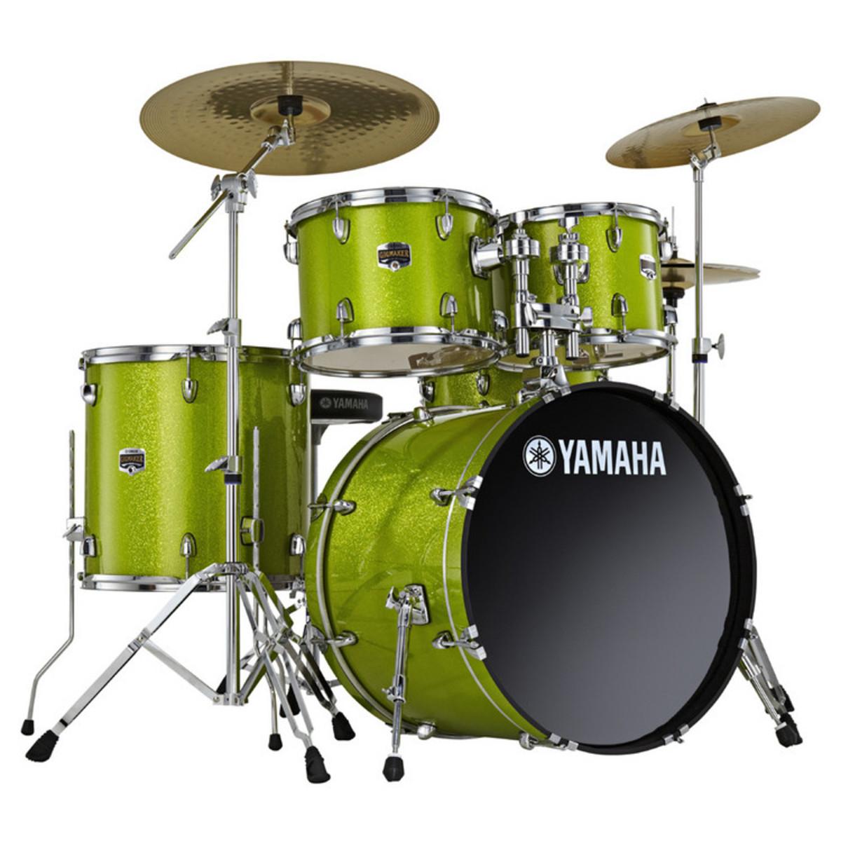 yamaha gigmaker 20 39 39 fusion drum kit white grape glitter