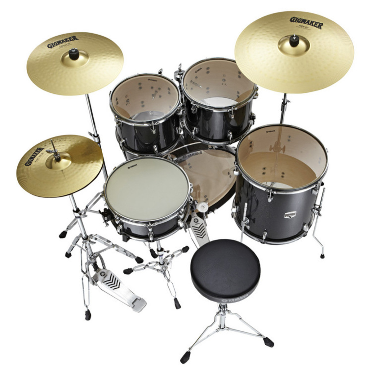 Yamaha Drum Kit : yamaha gigmaker 20 39 39 fusion drum kit black glitter at ~ Vivirlamusica.com Haus und Dekorationen