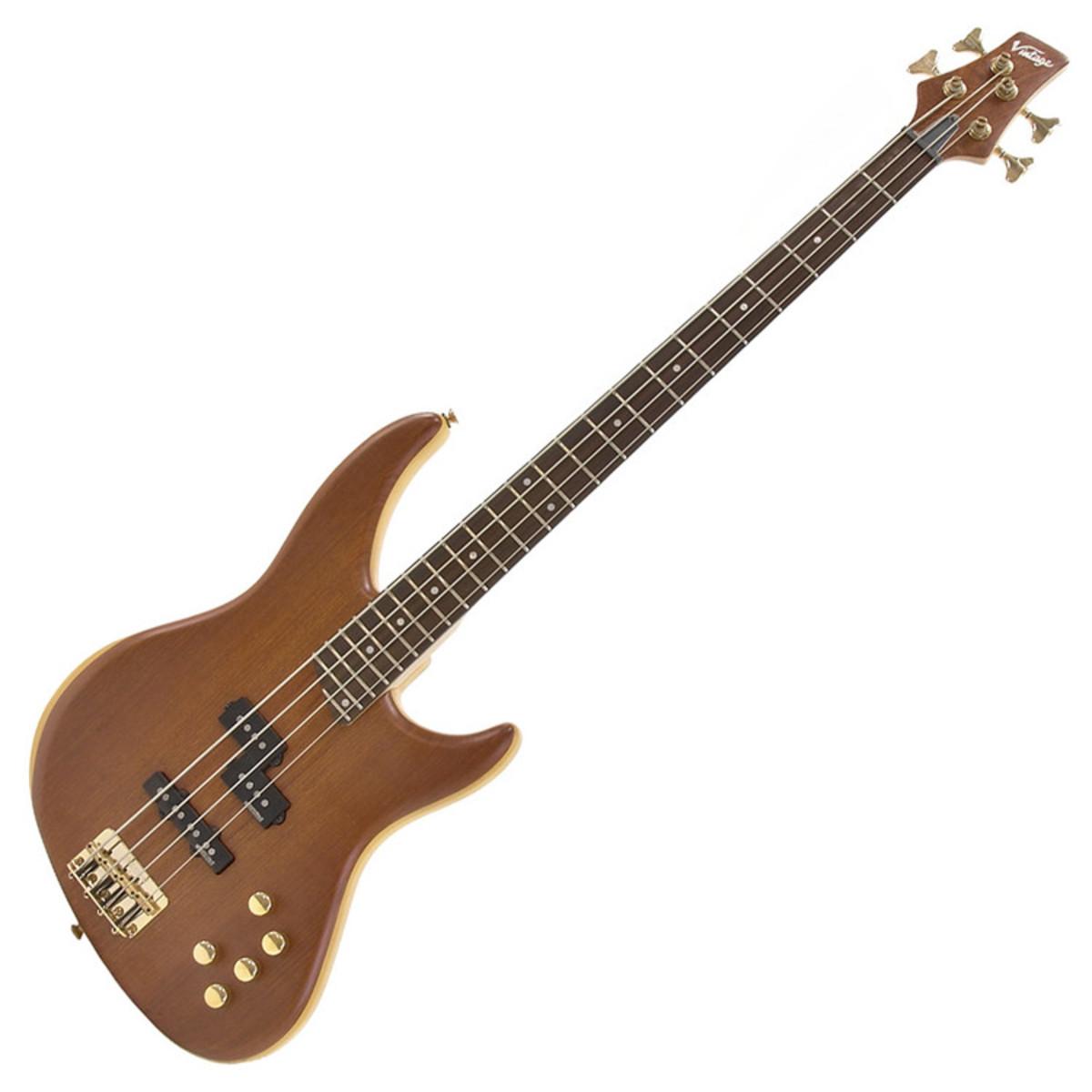 disc vintage v9004b active bass guitar bubinga natural at. Black Bedroom Furniture Sets. Home Design Ideas