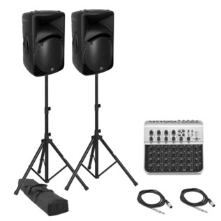 Mackie SRM450 Active PA System with Mixer and Speaker Stands