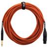 Orange 30 ft Mic Jack/XLR Cable, Orange Woven