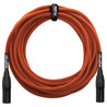 Orange 20 ft Mic XLR/XLR Cable, Orange Woven