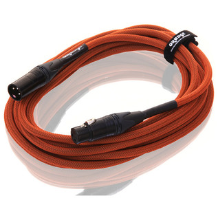 Orange 20 ft Mic XLR/XLR Cable, Orange Woven (2)