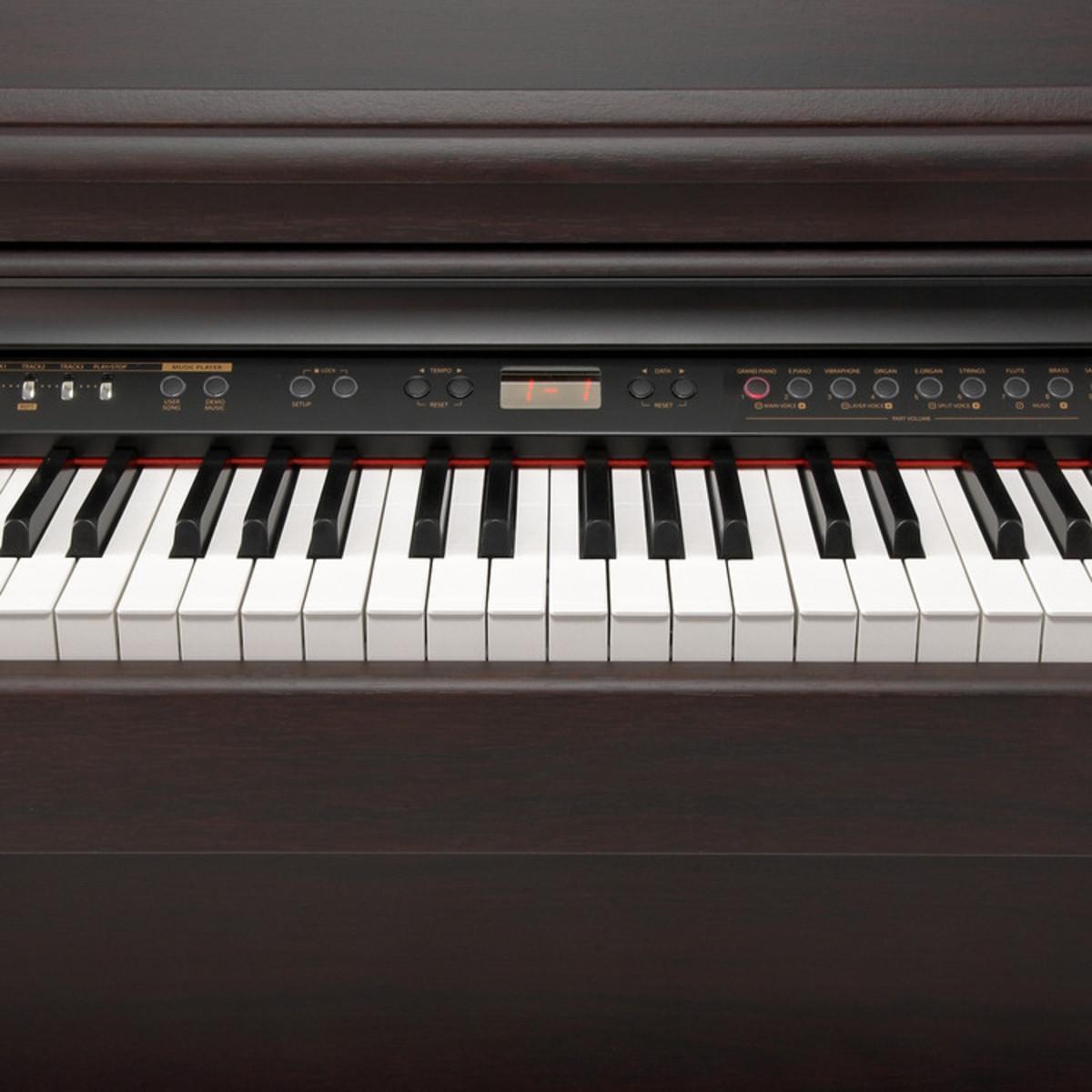 puis minster piano num rique mps 8 h bois de rose. Black Bedroom Furniture Sets. Home Design Ideas
