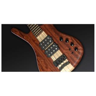 Warwick Corvette $$ 4-String Bass, Bubinga, Natural OF,Black Hardware (Close Up 2)