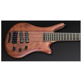 Warwick Thumb Bolt-On 5-String Bass, Natural OF, Black Hardware (Close Up)