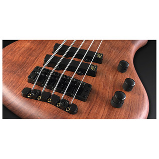 Warwick Thumb Bolt-On 5-String Bass, Natural OF, Black Hardware (Close Up 2)