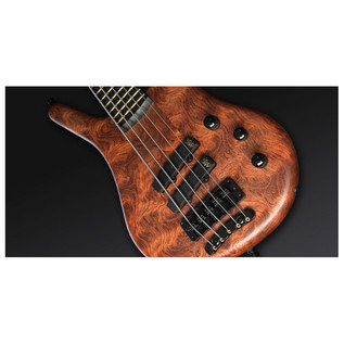 Warwick Thumb 5-String Bass, Natural OF, Black Hardware (Close Up 2)