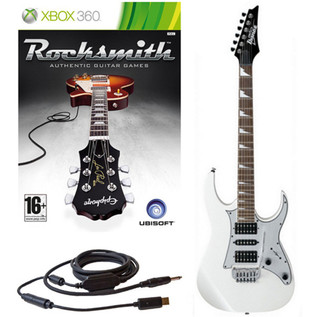 Ubisoft Rocksmith + Ibanez GRG150DX Guitar, White Xbox Package