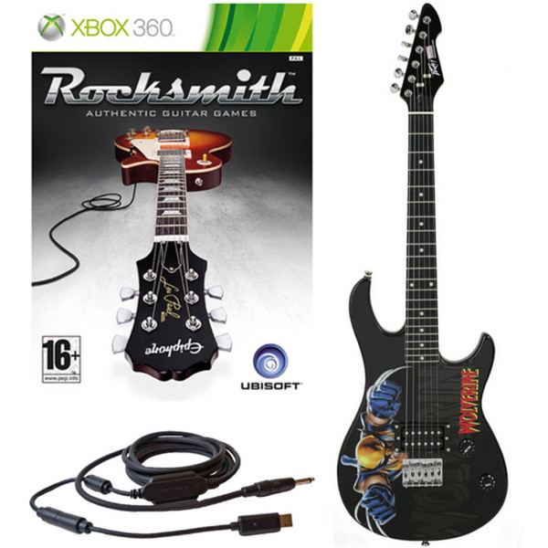 Ubisoft Rocksmith + MARVEL Wolverine 3/4 Guitar Xbox Package