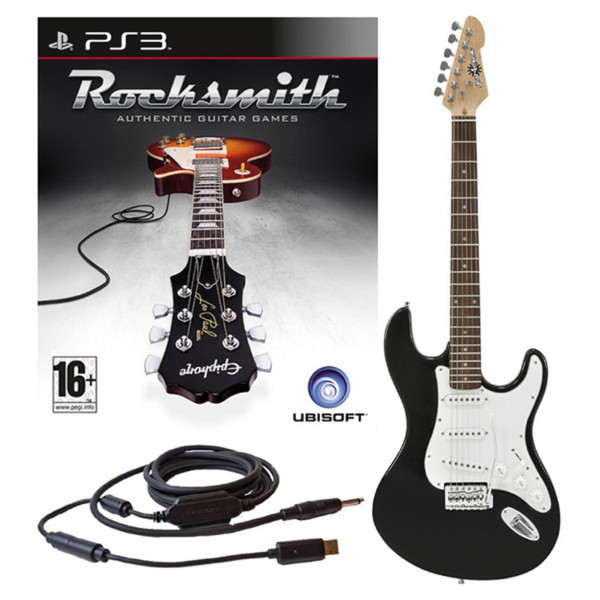 Ubisoft Rocksmith + Electric-ST Guitar, Black PS3 Package