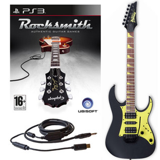 Ubisoft Rocksmith + Ibanez Guitar, Black PS3 Package