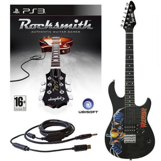 Ubisoft Rocksmith + MARVEL Wolverine 3/4 Guitar PS3 Package