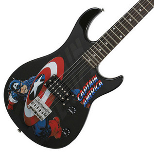 Ubisoft Rocksmith + MARVEL Captain America 3/4 Guitar PS3 Package