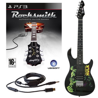 Ubisoft Rocksmith + MARVEL Hulk 3/4 Guitar PS3 Package