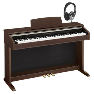 Casio Celviano AP-220 Digital Piano, Brown w/ Headphones & Lessons