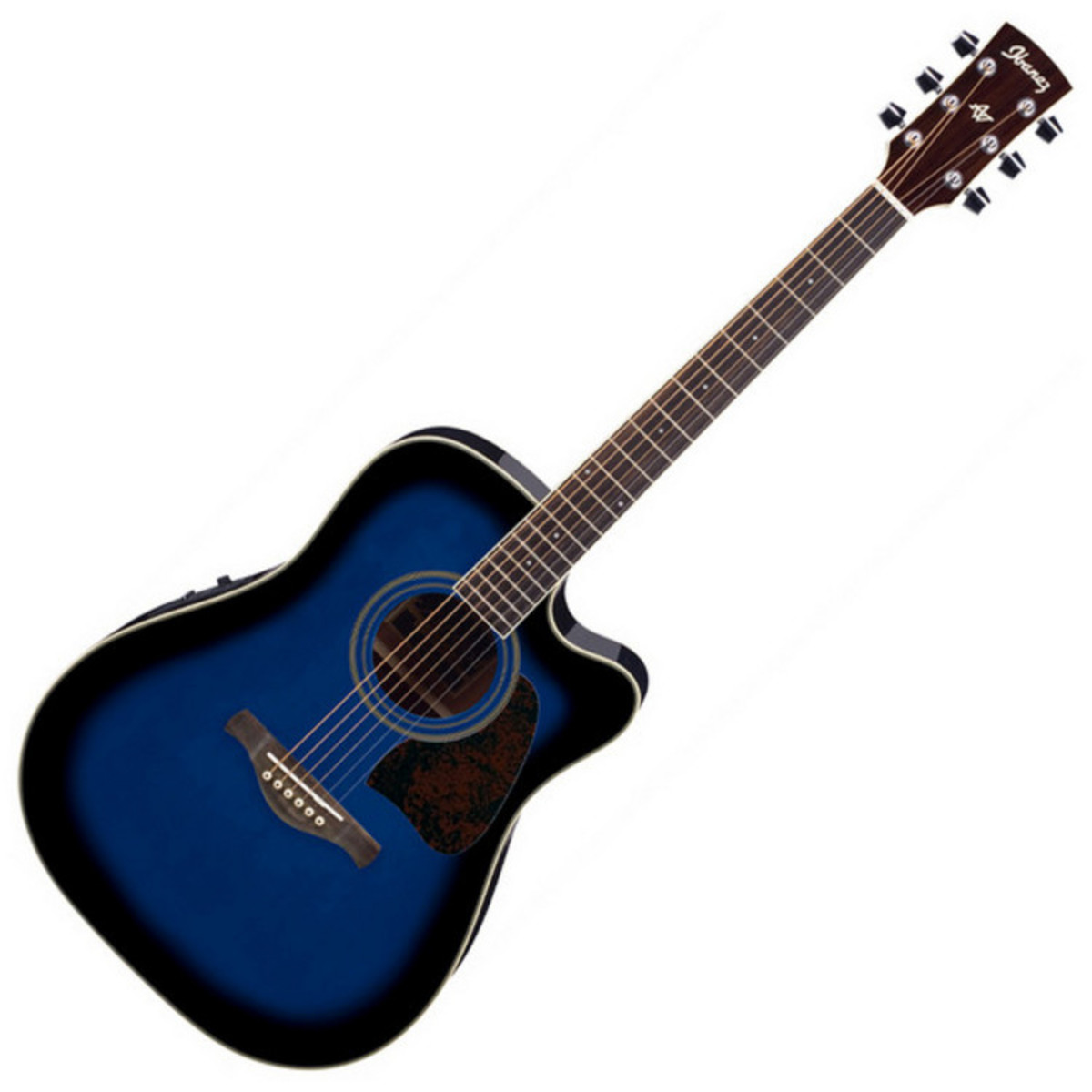 ibanez aw70 guitare lectro acoustique trans blue burst. Black Bedroom Furniture Sets. Home Design Ideas